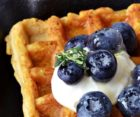 Haigs Hotel Waffles Blueberries
